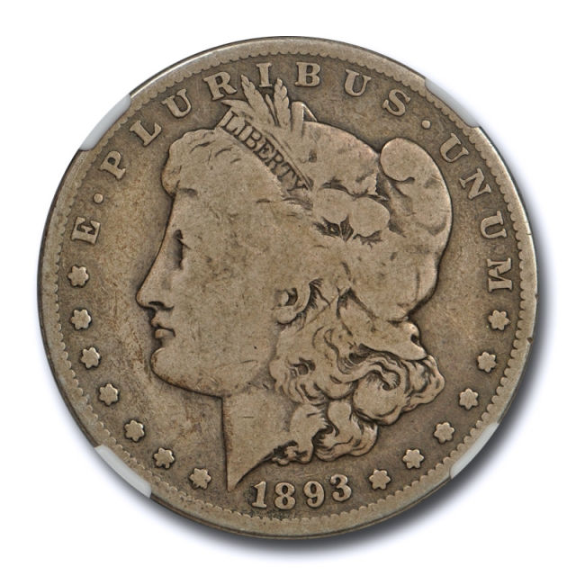 1893 S $1 Morgan Dollar NGC G 6 Good to Very Good Key Date CAC Approved