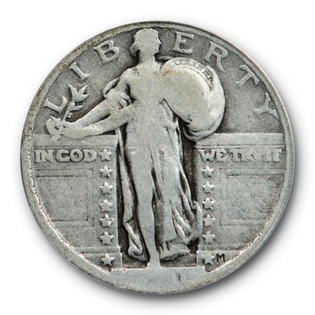 1921 25C Standing Liberty Quarter ANACS VG 8 Very Good Key Date Original