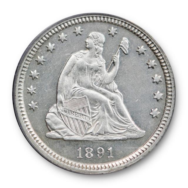 1891 25C Proof Seated Liberty Quarter ANACS PF 64 PR Blast White Looks Cameo ?