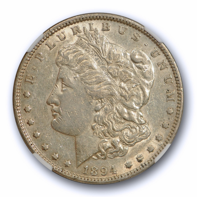 1894 $1 Morgan Dollar NGC AU 53 About Uncirculated to Mint State Key Date Tough !