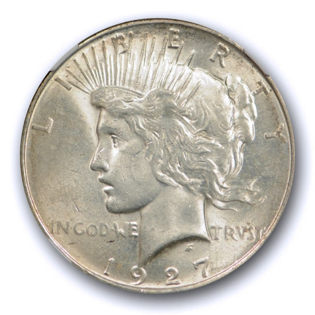 1927 $1 Peace Dollar NGC MS 61 Uncirculated Mint State Better Date Toned