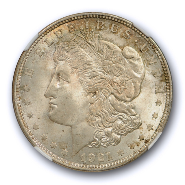 1921 $1 Morgan Dollar NGC MS 65 Uncirculated Crusty Original Toned Cert#6002