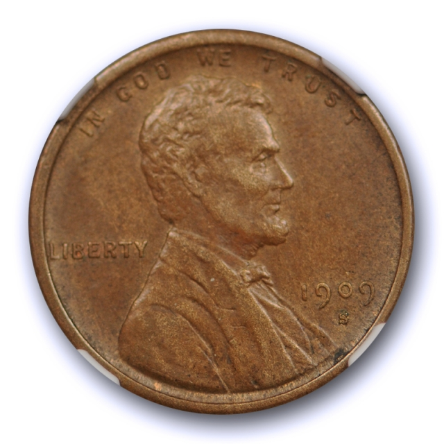1909 S VDB 1C Lincoln Wheat Cent NGC AU 55 About Uncirculated Key Date CAC Nice