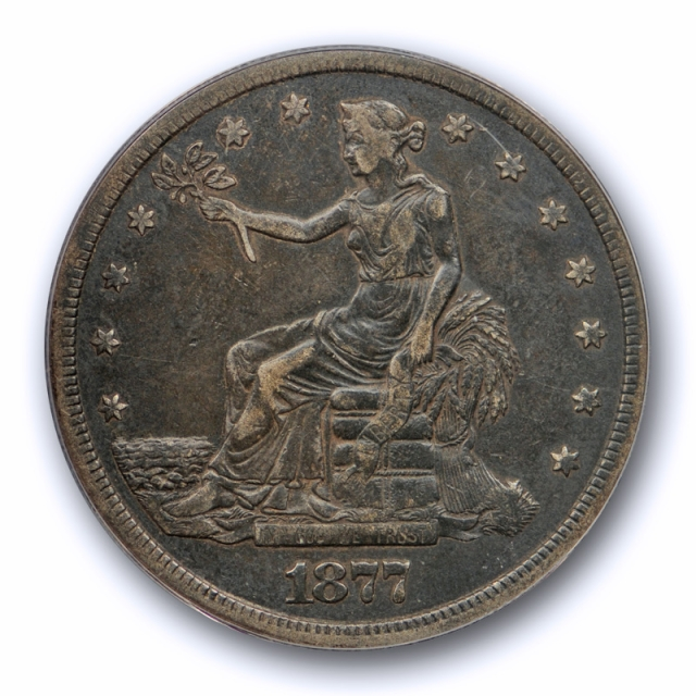 1877 S T$1 Trade Dollar ANACS VF 35 Very Fine to Extra Fine US Type Coin