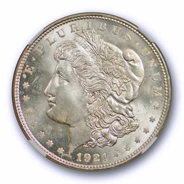 1921 $1 Morgan Dollar NGC MS 65 Uncirculated Exceptional Strike & Lustrous Cert#4005