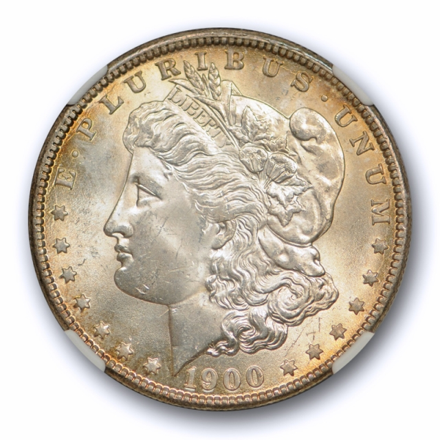 1900 O/CC $1 Morgan Dollar NGC MS 64 Uncirculated Toned CAC Approved !