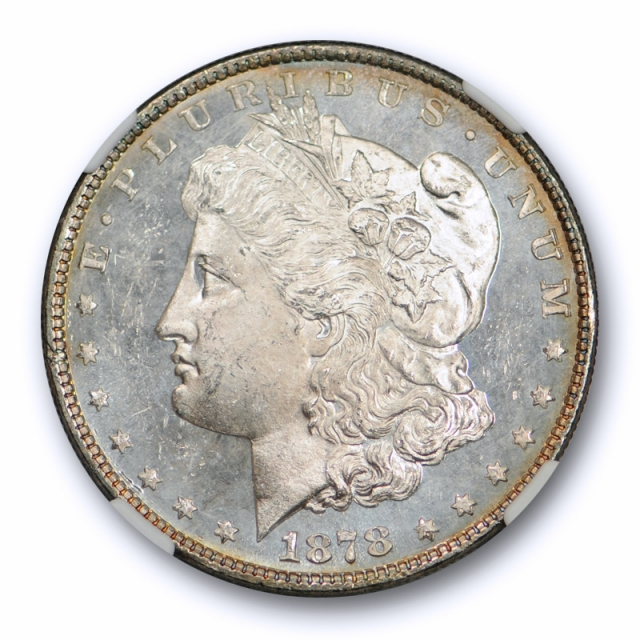 1878 8TF $1 Morgan Dollar NGC MS 63* Star Coin CAC Approved Exceptional !