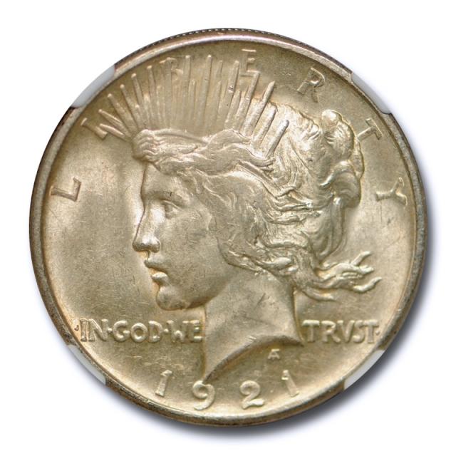 1921 $1 Peace Dollar NGC MS 61 Uncirculated Key Date High Relief Original