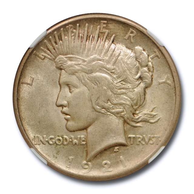 1921 $1 Peace Dollar NGC AU 58 About Uncirculated CAC Approved Key Date Cert#1006