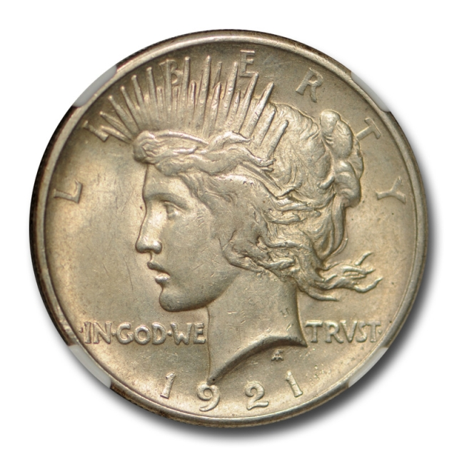 1921 $1 Peace Dollar NGC AU 58 About Uncirculated CAC Approved Key Date Cert#1016
