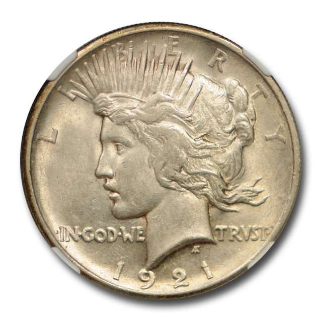 1921 $1 Peace Dollar NGC AU 58 About Uncirculated CAC Approved Cert#1022