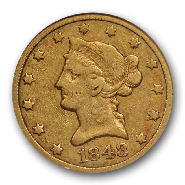 1848 O $10 Liberty Head Eagle ANACS VF 30 Very Fine to Extra Fine Old Holder