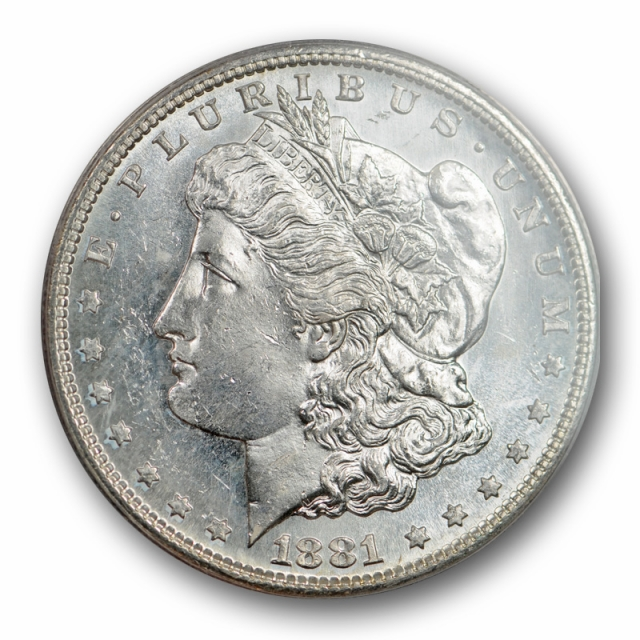 1881 S $1 Morgan Dollar ANACS MS 63 PL Uncirculated Proof Like Blast White Lustrous