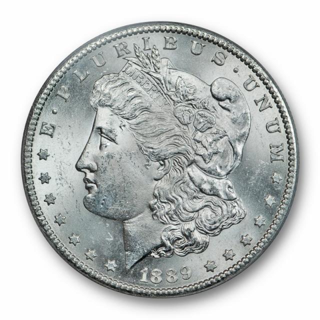 1889 S $1 Morgan Dollar ANACS MS 63 Uncirculated Blast White Lustrous !