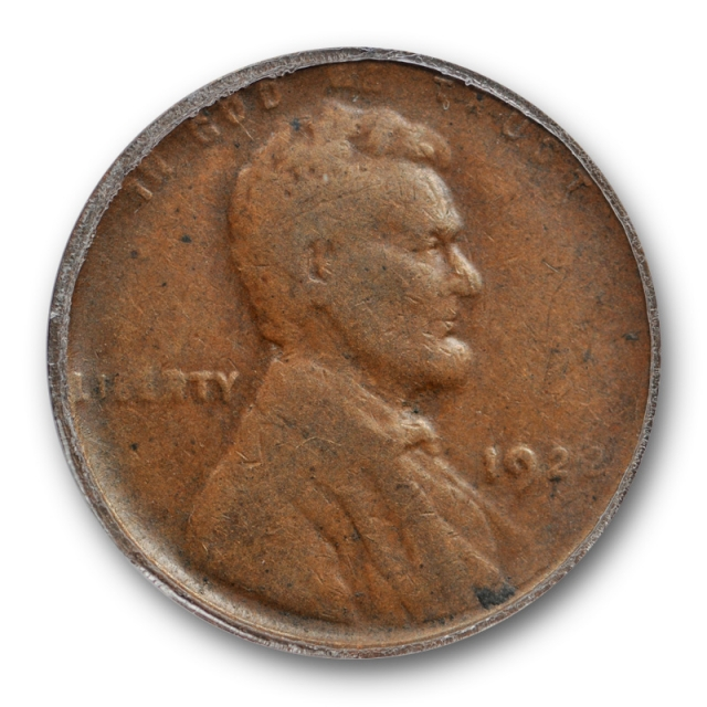 1922 Weak D 1c Lincoln Wheat Cent ANACS F 15 Fine to Very Fine No#3448