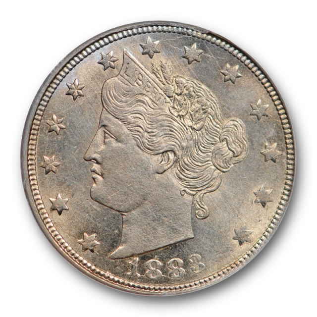 1883 5C With Cents Liberty Head Nickel ANACS MS 62 Uncirculated Lustrous !