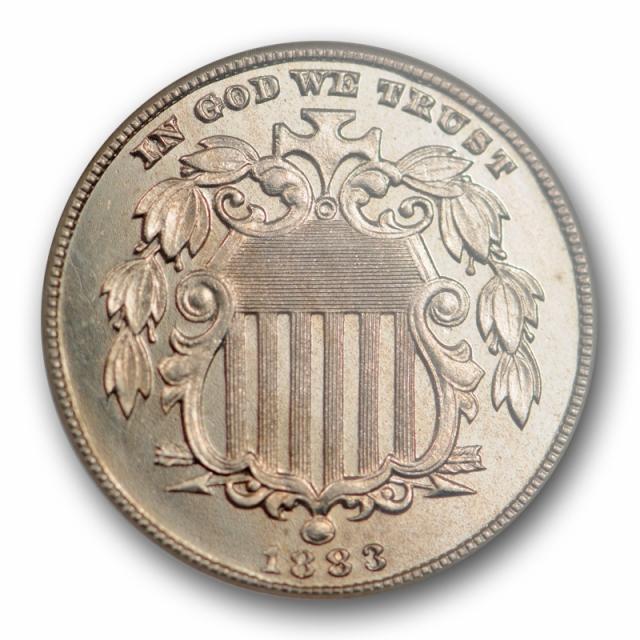 1883 5C Proof Shield Nickel ANACS PF 65 PR Low Mintage Undergraded Old Holder !