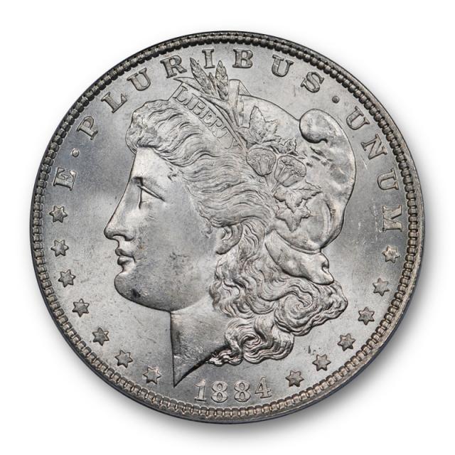 1884 $1 Morgan Dollar PCGS MS 65 Uncirculated Lightly Toned Original P Mint