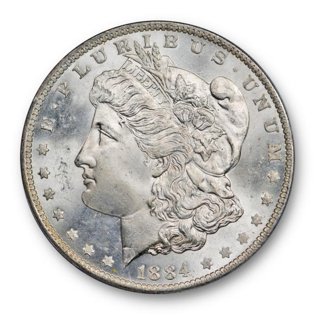 1884 O $1 Morgan Dollar PCGS MS 65 Uncirculated Blast White Looks Better !