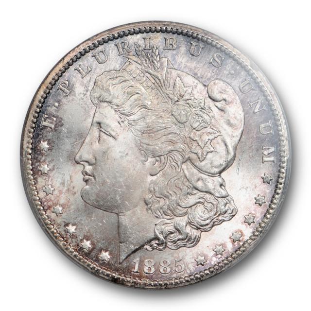 1885 CC $1 Morgan Dollar PCGS MS 64 Uncirculated Cason City Mint Toned Cert#7730