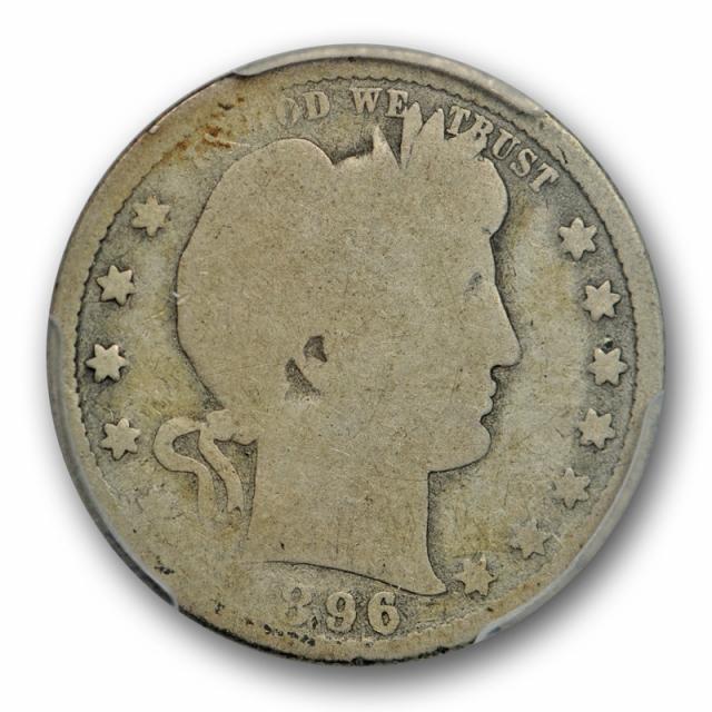 1896 S 25C Barber Quarter PCGS AG 3 About Good San Francisco Mint Key Date Cert#8176