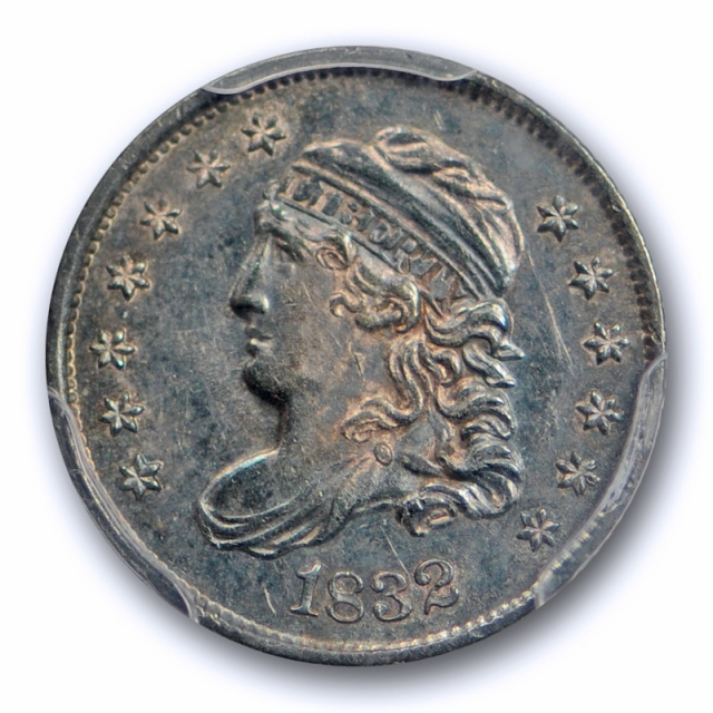 1832 H10C Capped Bust Half Dime PCGS MS 62 Uncirculated US Type Coin Toned