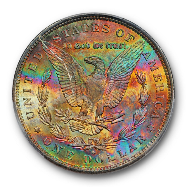 1884 O $1 Morgan Dollar PCGS MS 64 Uncirculated Monster Toned Beauty Pretty !