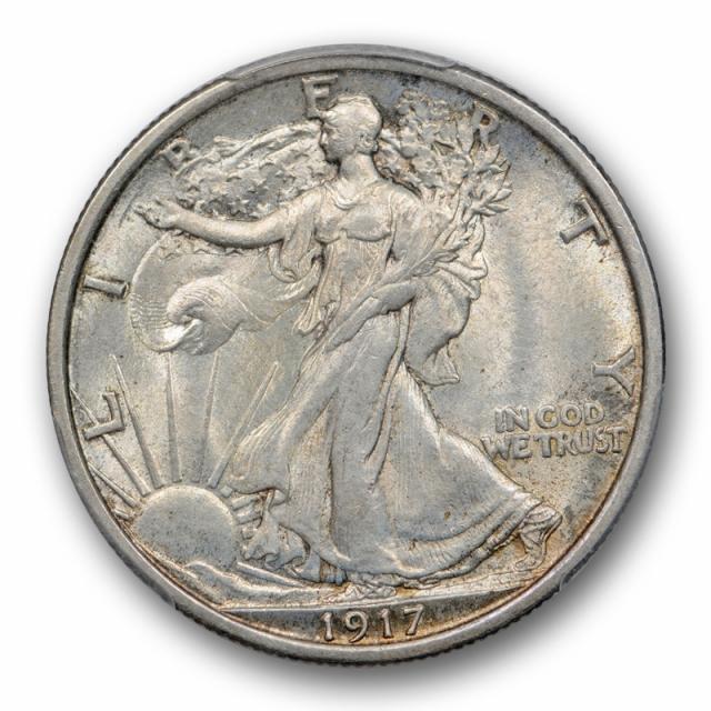 1917 50C Walking Liberty Half Dollar PCGS MS 65 Uncirculated Original Cert#9209