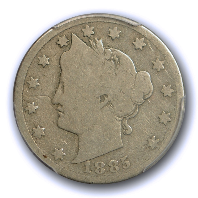 1885 5C Liberty Head Nickel PCGS G 4 Good Key Date US Coin Original Tough