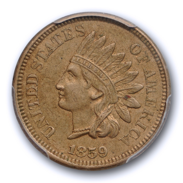 1859 1C Indian Head Cent PCGS AU 55 About Uncirculated One Year U.S Type Coin