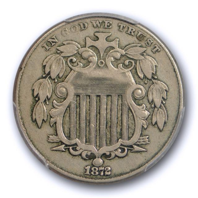 1872 5C Shield Nickel PCGS VF 35 Very Fine to Extra Fine Better Date Original Toned