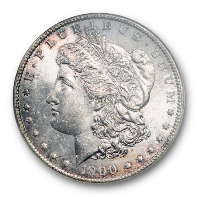 1900 O/CC $1 Morgan Dollar ANACS MS 64 Uncirculated O Over CC Mintmark Toned