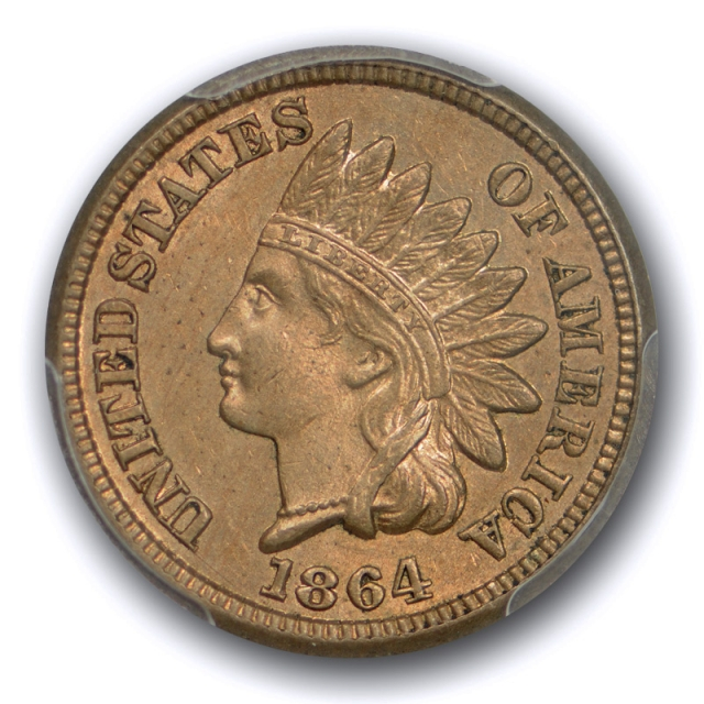 1864 1C Copper Nickel Indian Head Cent PCGS MS 63 Uncirculated US Type Coin