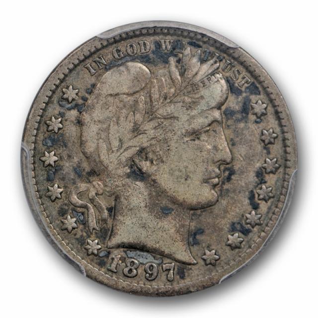 1897 S 25C Barber Quarter PCGS VF 20 Very Fine Key Date San Francisco Mint Toned