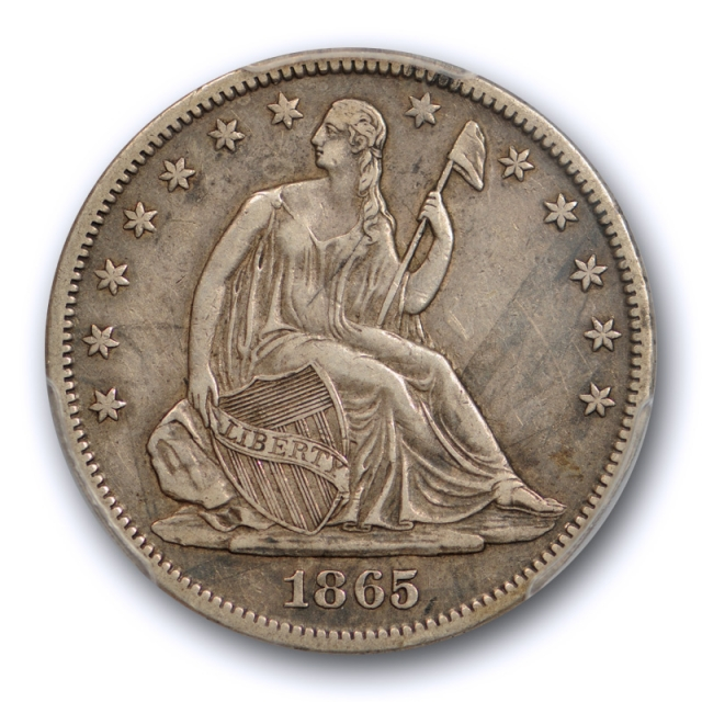 1865 S 50C Seated Liberty Half Dollar PCGS XF 40 Extra Fine Better Date Sharp Detail !