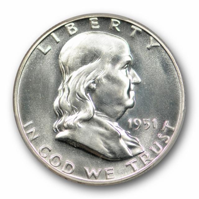 1951 50C Franklin Half Dollar PCGS PR 66 Proof CAC Approved Blast White Stunning !