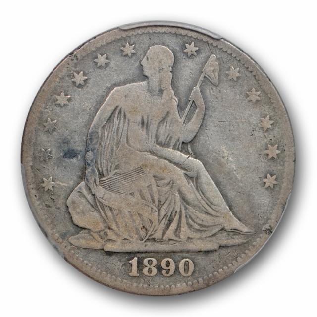 1890 50C Seated Liberty Half Dollar PCGS VG 10 Very Good to Fine Key Date Cert#0526