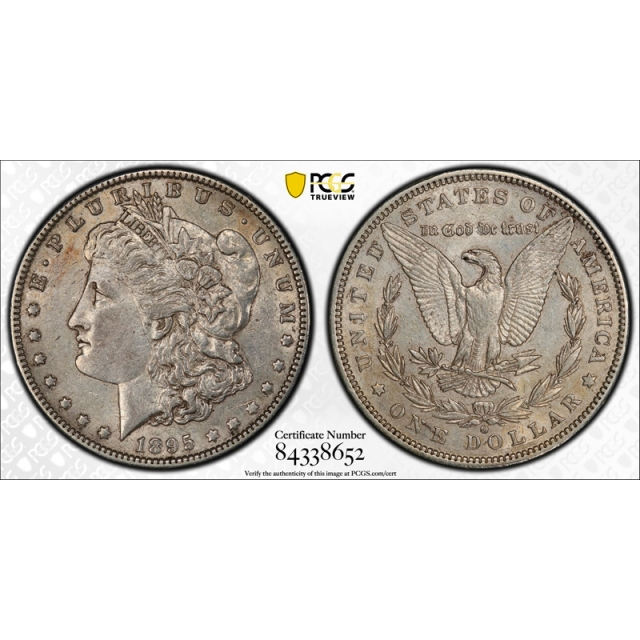 1895 O $1 Morgan Dollar PCGS AU 55 About Uncirculated CAC Approved Toned Original !