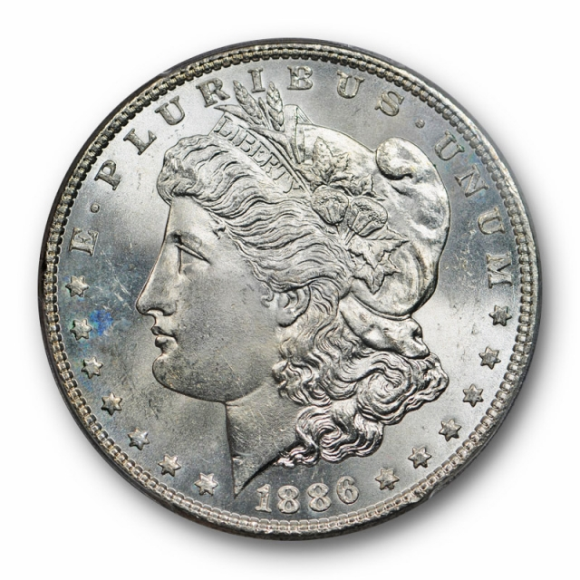 1886 $1 Morgan Dollar PCGS MS 65 Uncirculated VAM 17 Doubled Arrows Variety
