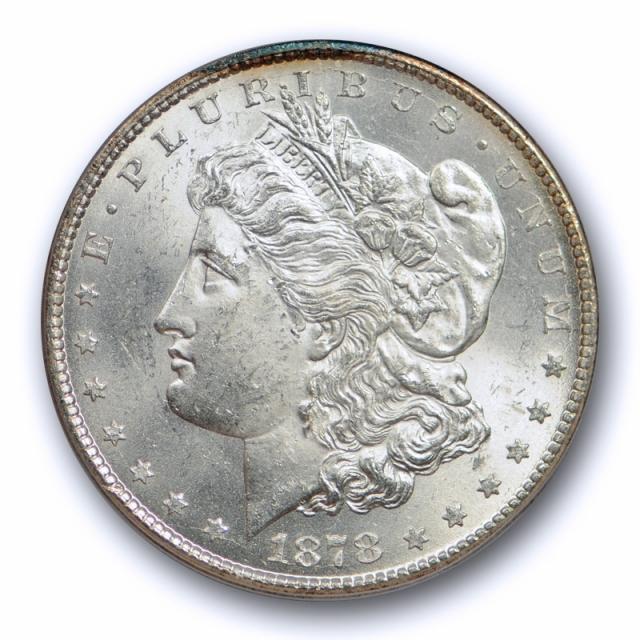 1878 CC $1 Morgan Dollar PCGS MS 63 Uncirculated Carson City Mint Sharp Coin !