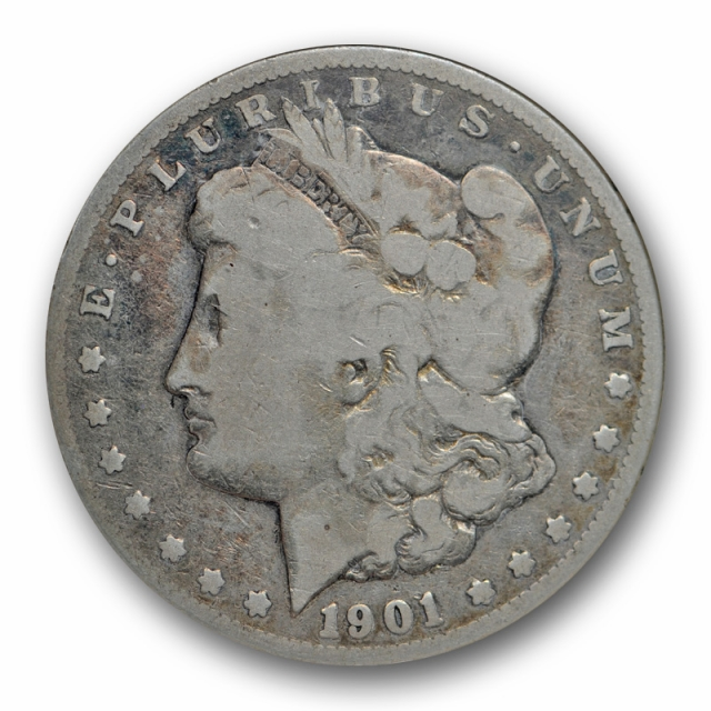 1901 $1 Doubled Die Reverse VAM 3 Shifted Eagle Morgan Dollar ANACS G 6