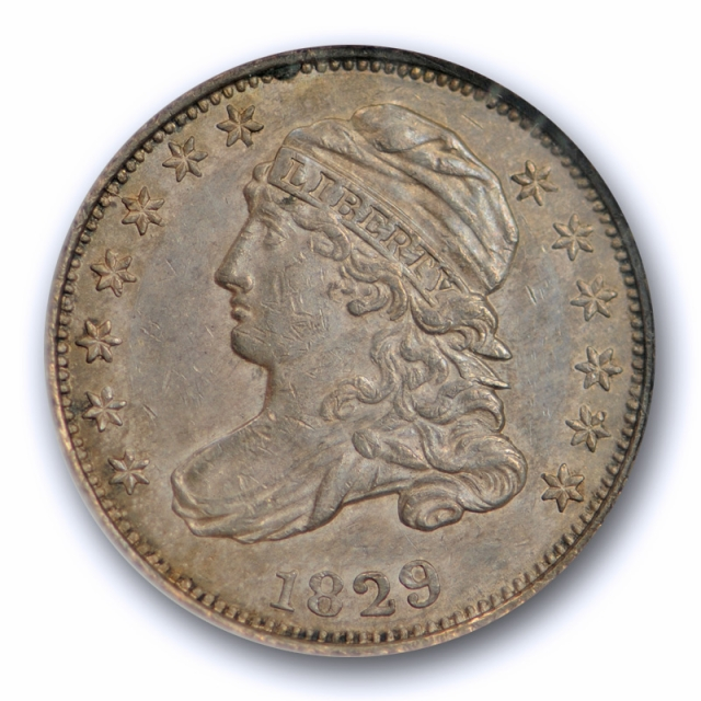 1829 10c Capped Bust Dime NGC AU 58 About Uncirculated CAC Approved Small 10c JR 6