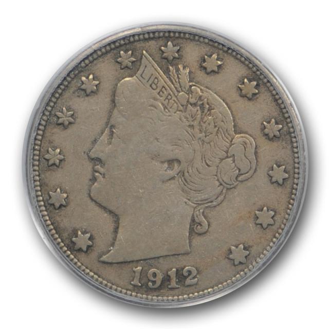 1912 S 5C Liberty Head Nickel PCGS VF 25 Very Fine to Extra Fine Key Date !