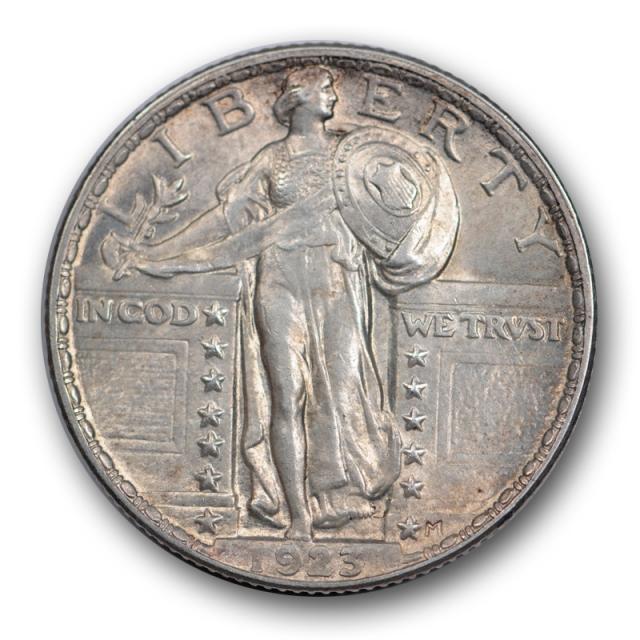 1923 25C Standing Liberty Quarter Uncirculated Mint State Full Head Beautiful